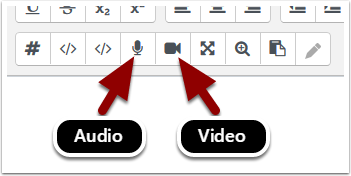 audio and video editor icons