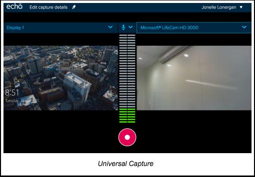 Universal Capture interface