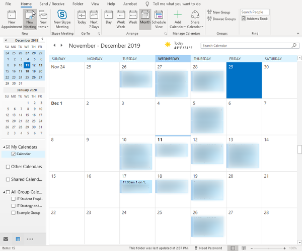 Calendar Tools/Meeting Occurrence