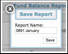 Fund Balance Report