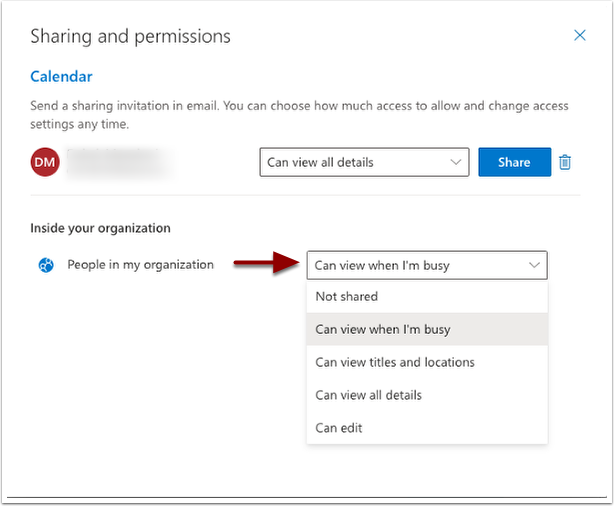 sharing and permissions