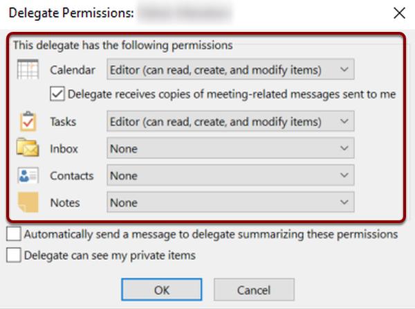 delegate permissions