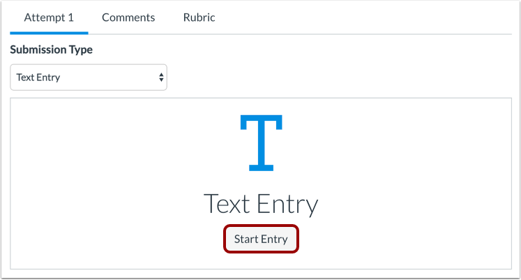 Submit a Text Entry