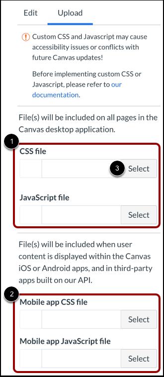 Carregar arquivos CSS/JavaScript personalizados