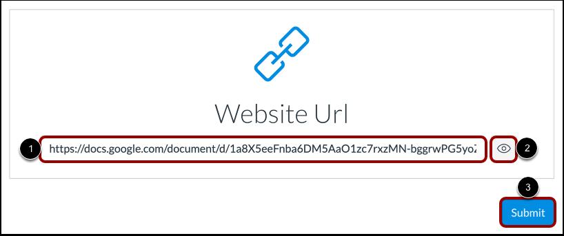 Submit a Website URL