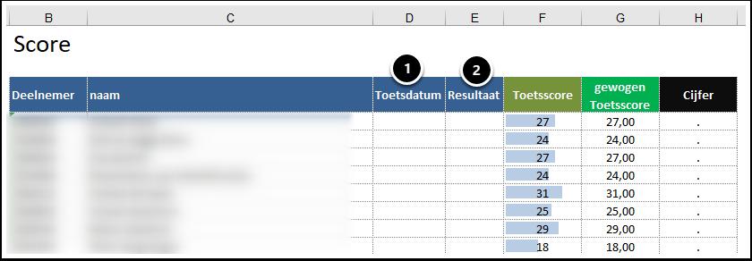 Kopie van bijlage 1 - bestand evaluatieservice_test - Excel
