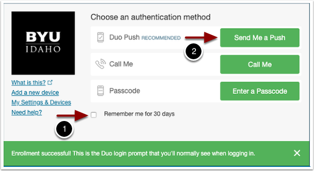 choose authentication method
