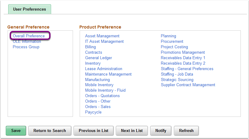 Define User Preferences - Overall Preference