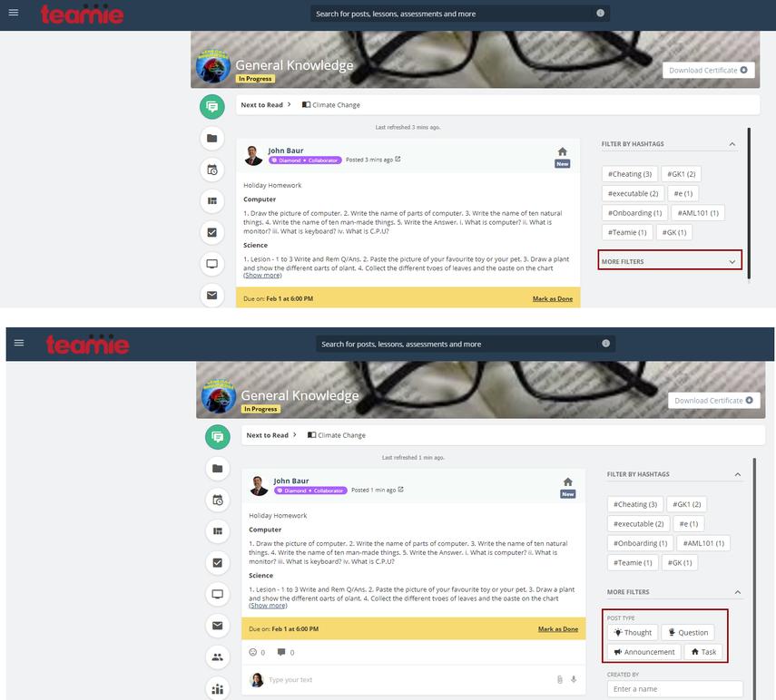(11) Newsfeed | General Knowledge | Teamie Next - Google Chrome