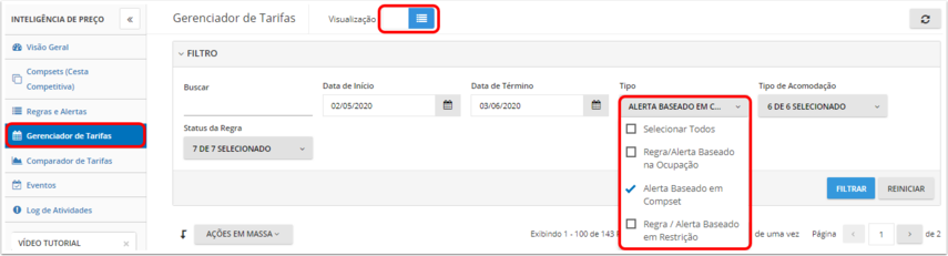 [TEST]Trial - Gerenciador de Tarifas - Google Chrome