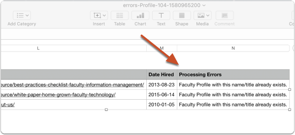 View processing errors