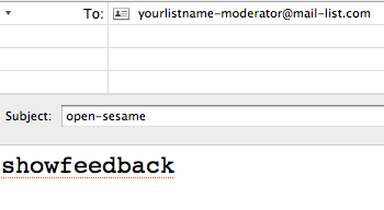 You can retrieve the voting results at any time, by sending in the command SHOWFEEDBACK