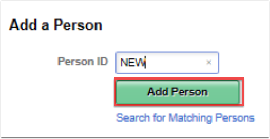 Add a Person start page