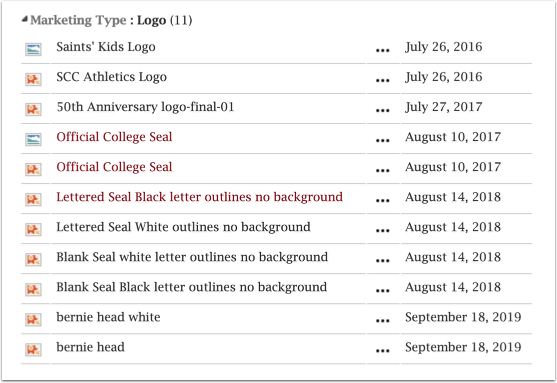 SCC logo image files list