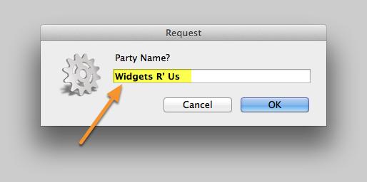 Enter the Party Name.