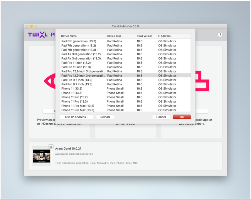 Preview from Mac App