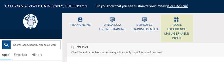 AEM as quicklink