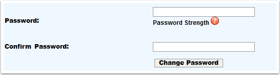 Change Password page detail