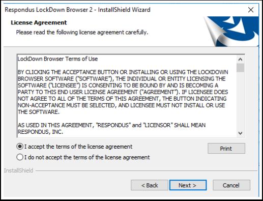 Install Respondus LockDown Browser