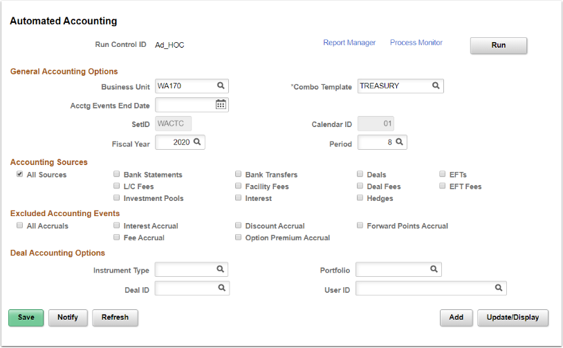 Automated Accounting page