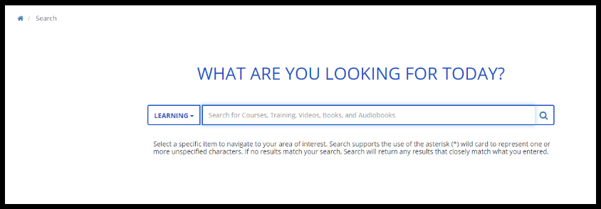 Search page.
