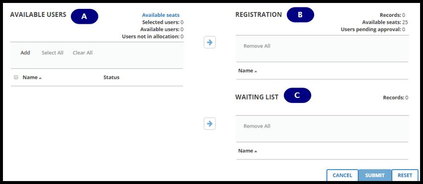 Batch registration page