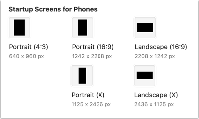 Startup Screens for Phones