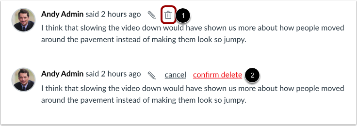 Delete Comment