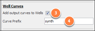 Add output curves to wells
