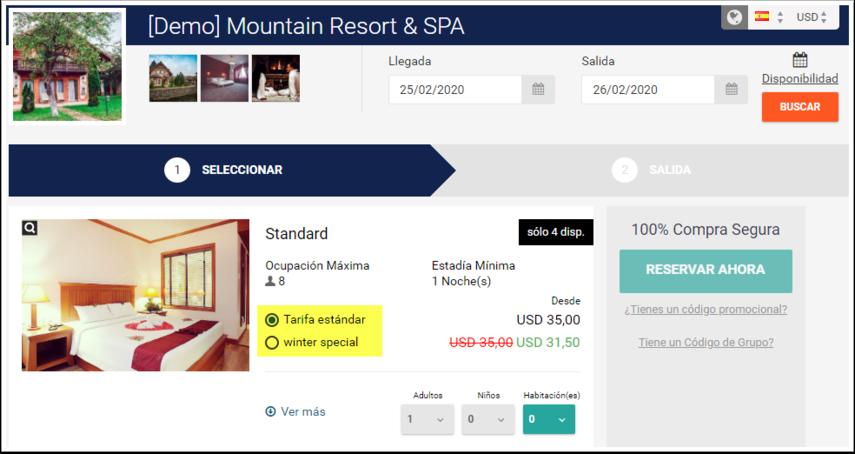 [Demo] Mountain Resort & SPA - Kyiv, Ucrania - Mejor precio garantizado - Google Chrome