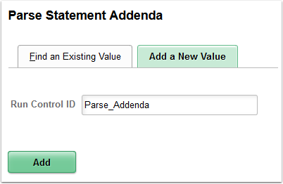 Parse Statement Adenda - Add a New Value tab