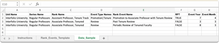 rank events template