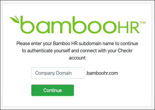 Checkr-BambooHR Integration