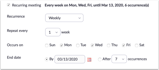 Schedule a Meeting page detail