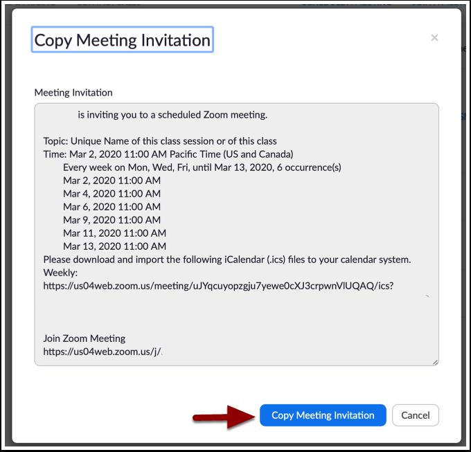 Meeting invitation - Zoom