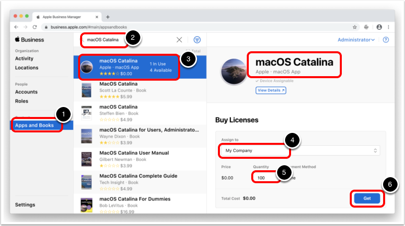 Upgrade macOS from Apple Business Manager