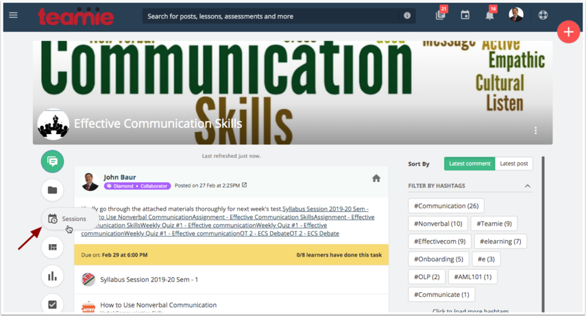 (16) Newsfeed | Effective Communication Skills | Teamie Next