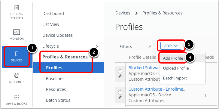 Upgrade macOS and add profile to Workspace ONE