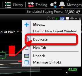 2. Select Duplicate from the drop-down menu