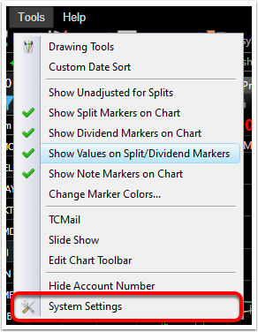 2. Click System Settings.