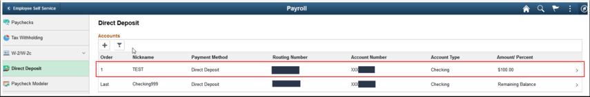 Employee Self Service Payroll page