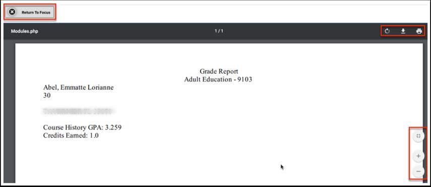 Final Grades - Course History - Abel, Emmatte