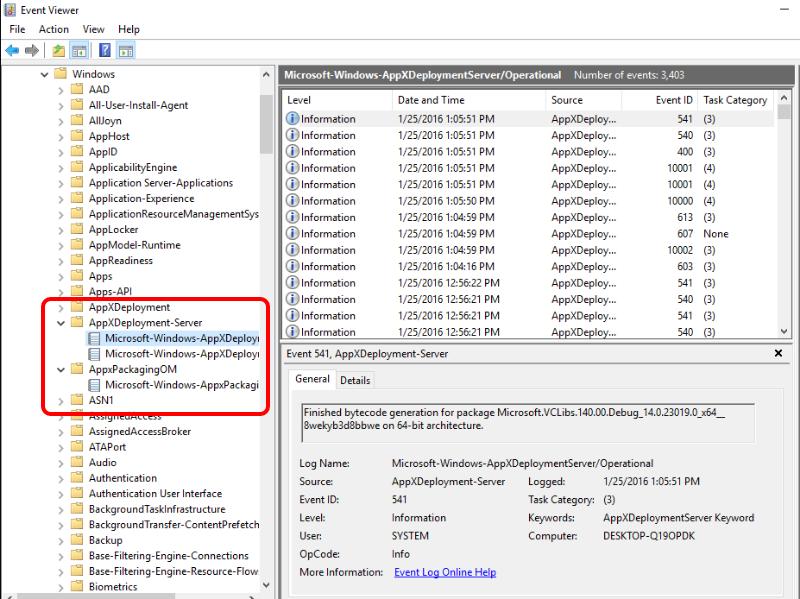 Registry Key & Event Viewer Logs