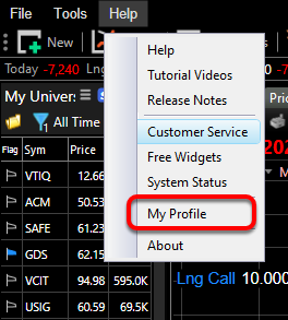 "2. Select ""Your Profile"" from the drop down menu."