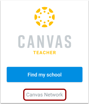 Locate Canvas Network Account