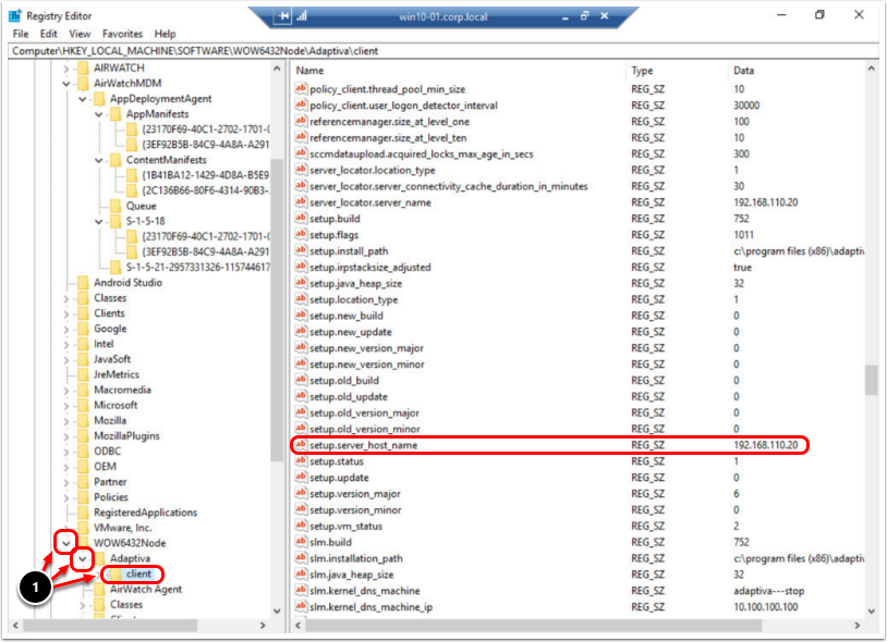 Check client registry values for peer to peer networking when troubleshooting Windows 10.