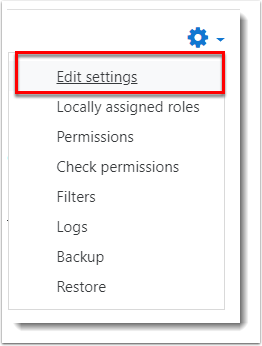 Edit settings is selected