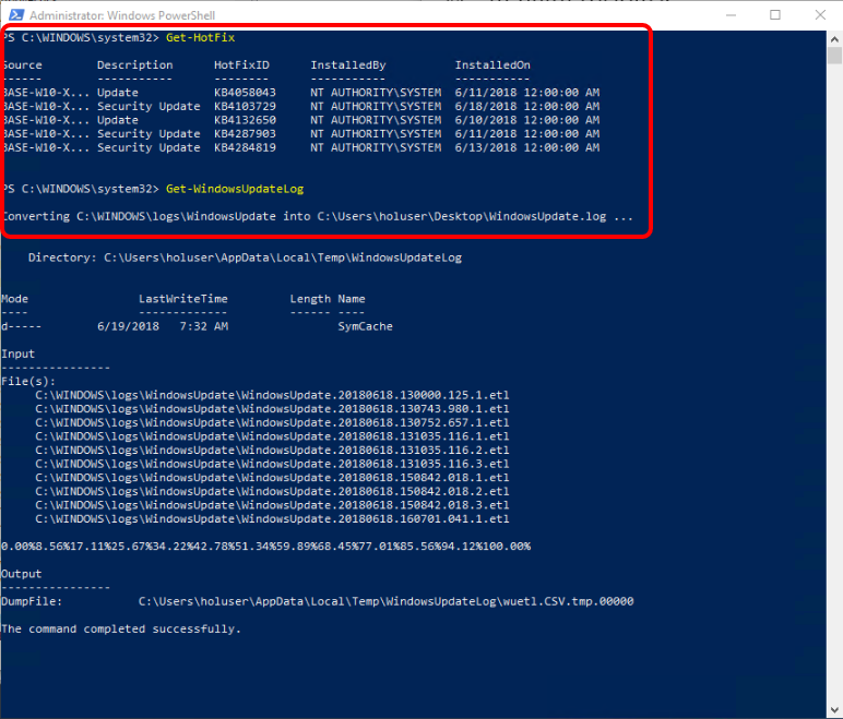 Windows Update Troubleshooting Using PowerShell cmdlets