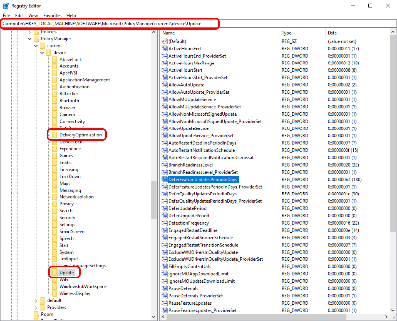 Validate settings using the registry when troubleshooting Windows.