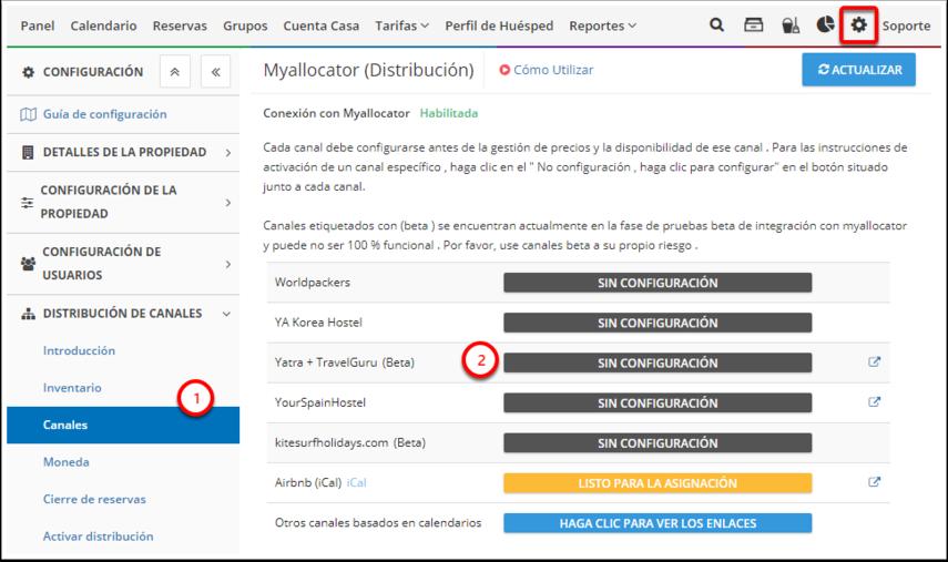 DEMO - Colombian Highlands - Configuración - Myallocator (Distribución) - Canales - Google Chrome